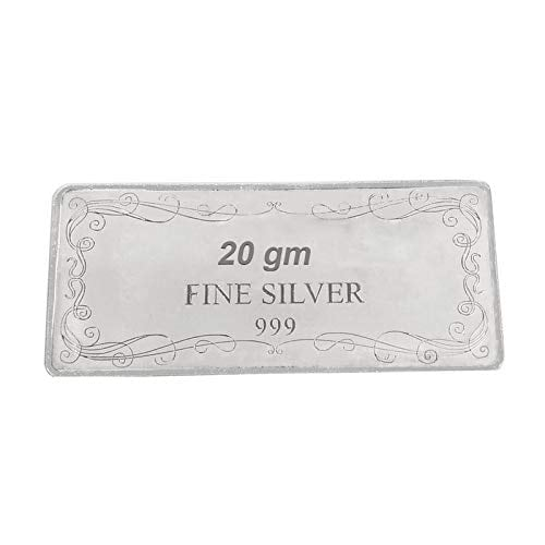 Maa Silver Happy Diwali 20gm Fine Silver Bar With 999 Purity