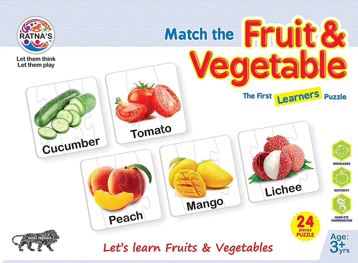 Match The Fruit & Vegetables Jigsaw Puzzle