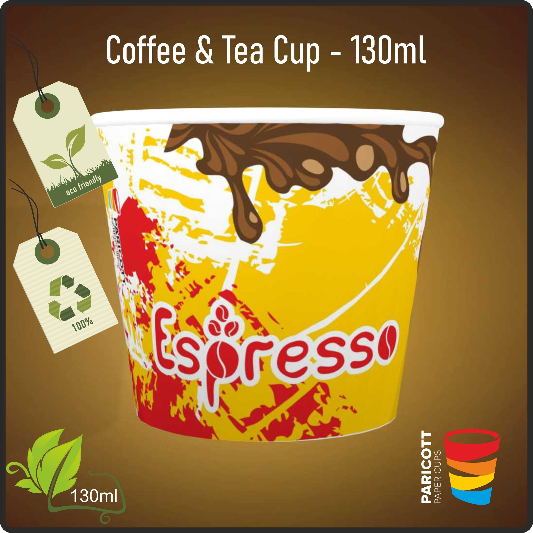 130ml Multi Color Expresso Paper Cups (500)