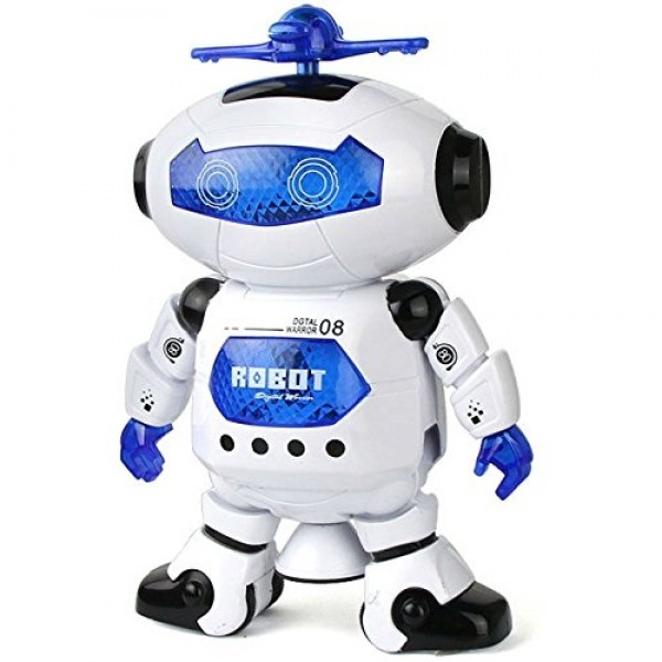Best Musical And Naugty Dancing Robot, White/Blue