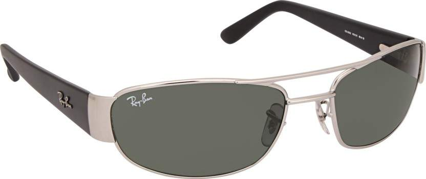 Ray-Ban 3052I 60 W3181 Rectangular Mens Sunglasses (Green)