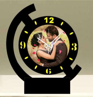 Sublimation Table Clock - Single Photo