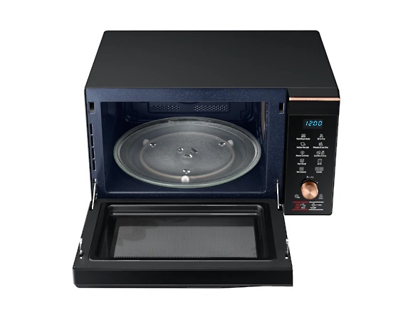 Samsung 32 L Convection Microwave Oven ( MC32K7056CC/TL, Black Safroin Pattern )