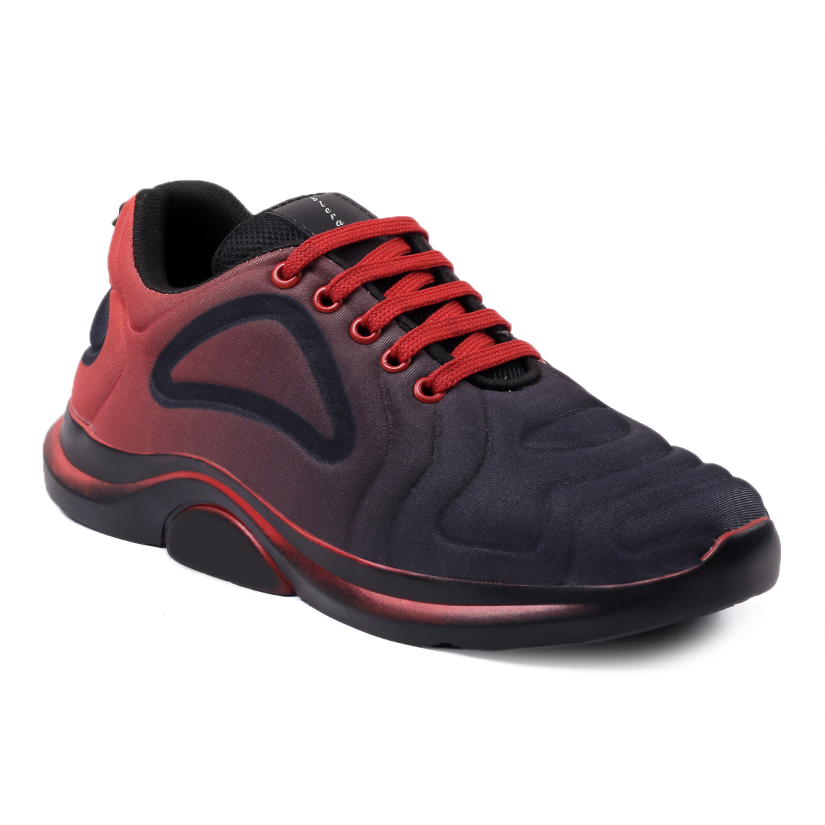 STERA MEN'S STYLISH HEAVY QUALITY DESIGNER UPPER WITH FLEXIBLE SNEAKER SHOE NHT-SNKR-1017-RED (RED,6-10,8 PAIR)