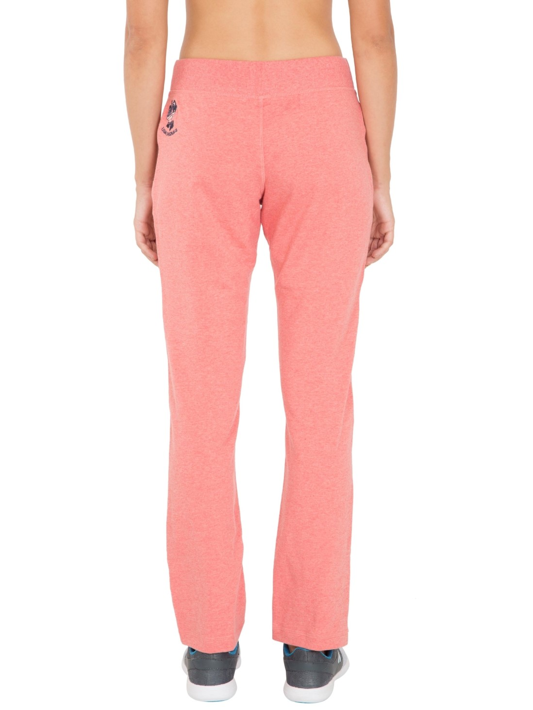 Jockey Womens Passion Red Melange Slim Fit Track Pant (S,Passion Red Melange)
