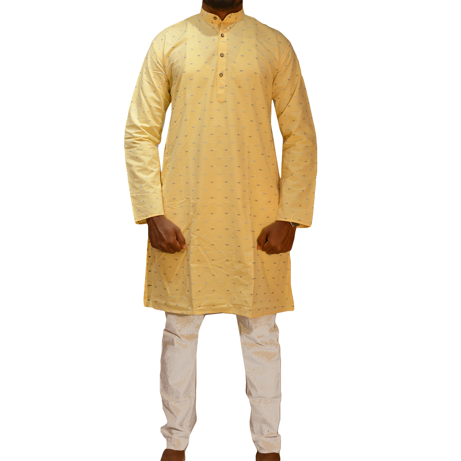 MEN'S KURTA SET (42, CREAM)