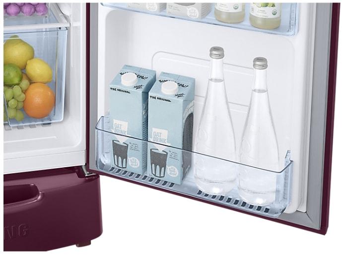 Samsung RR20M1Z2XR7/HL Direct Cool Single Door Refrigerator (192 Litres, 5 Star, Magnolia Plum)