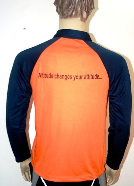 Hiking Full Sleeve Dryfit Jersey (L,Orange)