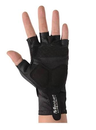 Cycling Gloves With Silicon Pads For Tour (Black,M)