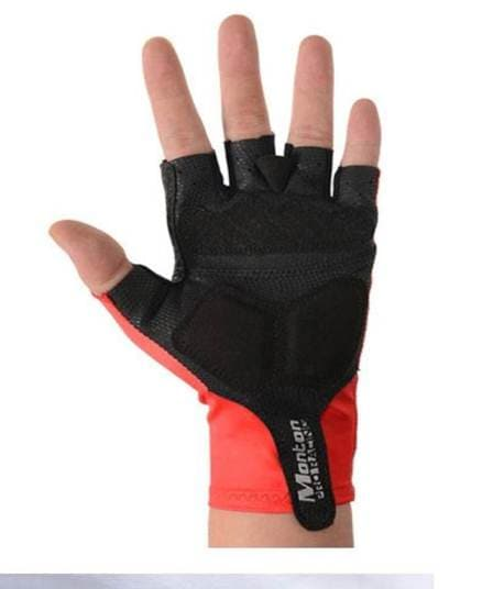 Cycling Gloves With Silicon Pads For Tour (Red,L)