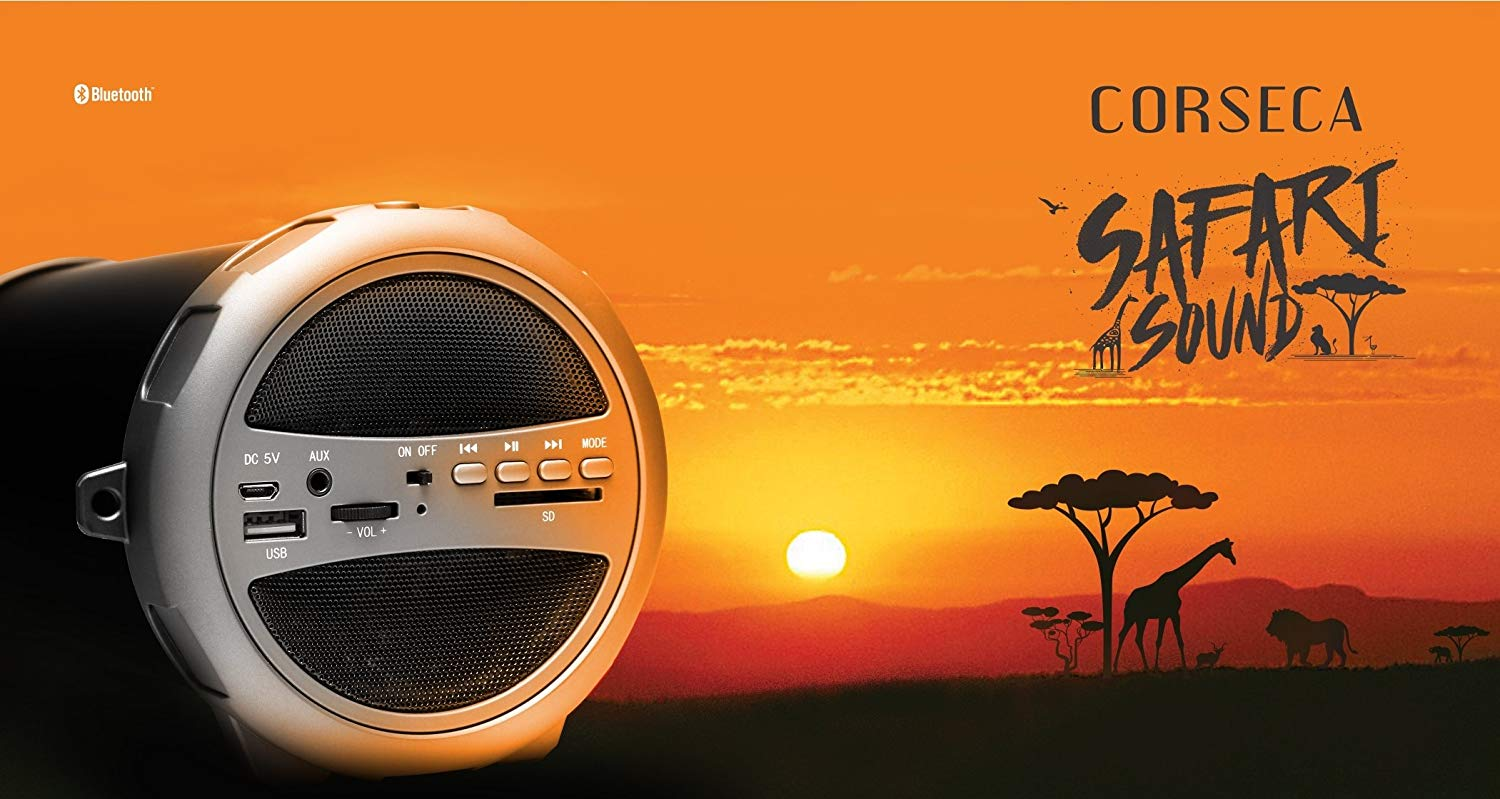 Corseca Safari-1 DMS1841 Wireless Portable Bluetooth Speake
