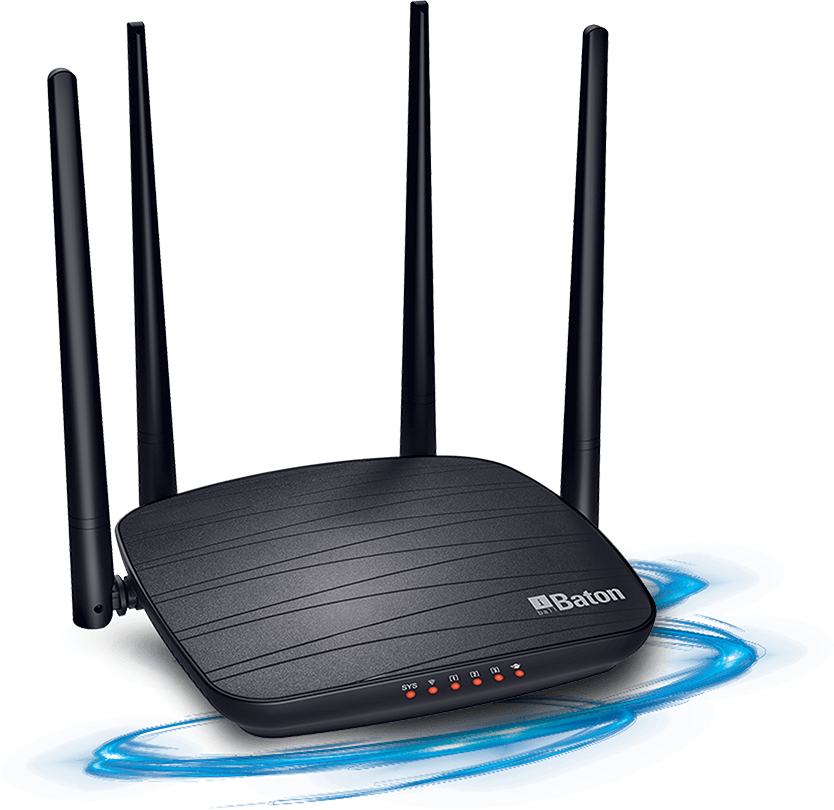 I-BALL 1200M Smart Dual Band Wireless AC Router