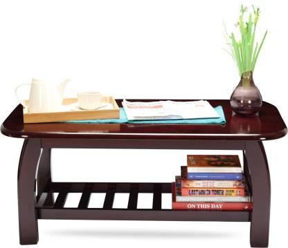 Woodness Malto Solid Wood Coffee Table  (Finish Color - Mahogany)