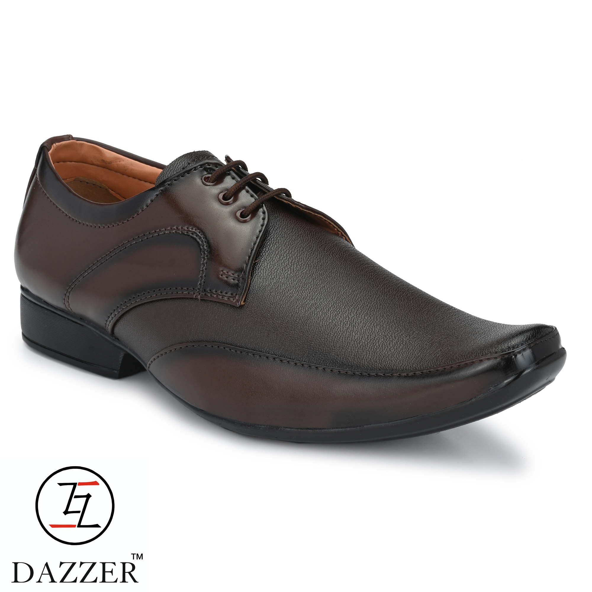 Dazzer 610 Lace Up Synthetic Formal Shoes For Men 610Brown. (Brown, 6-10, 8 PAIR)