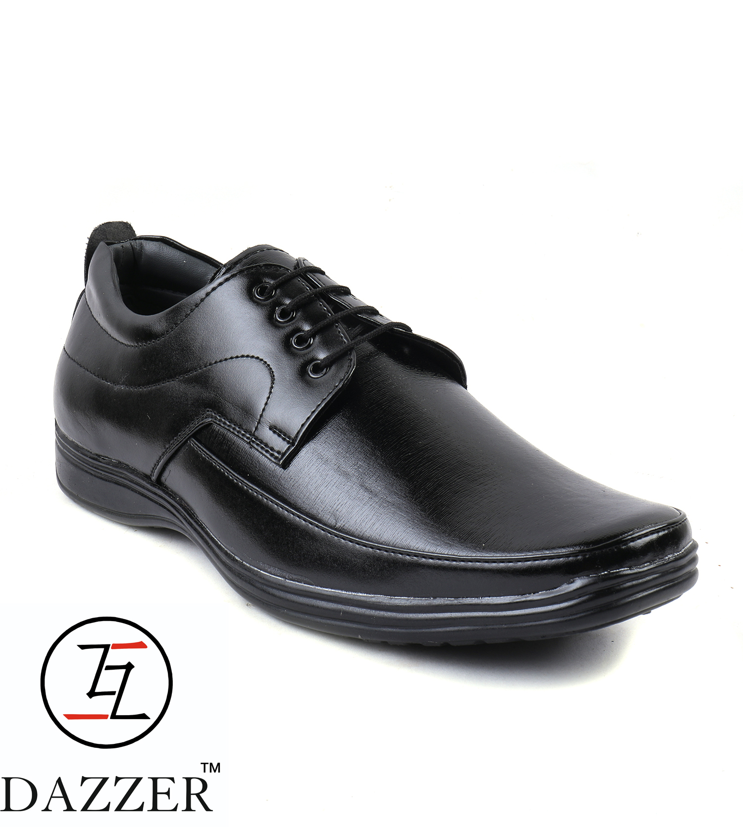 Dazzer 457 Lace Up Synthetic Formal Shoes For Men 457Black (Black, 6-10, 8 PAIR)