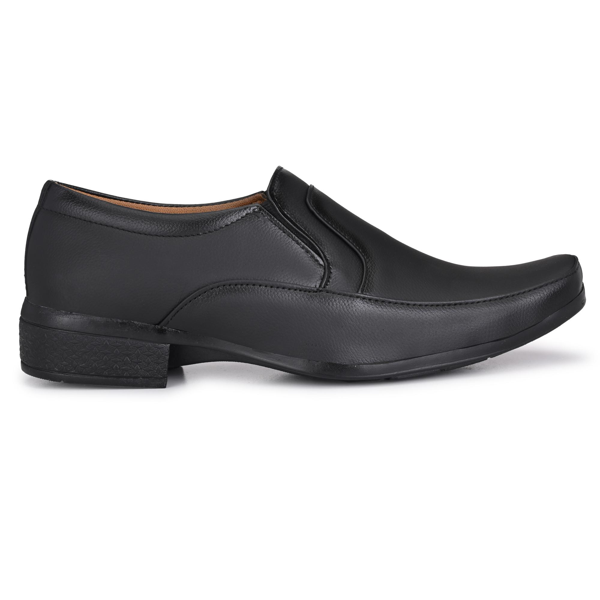 Dazzer 588 Slip On Synthetic Formal Shoes For Men 588Black (Black, 6-10, 8 PAIR)