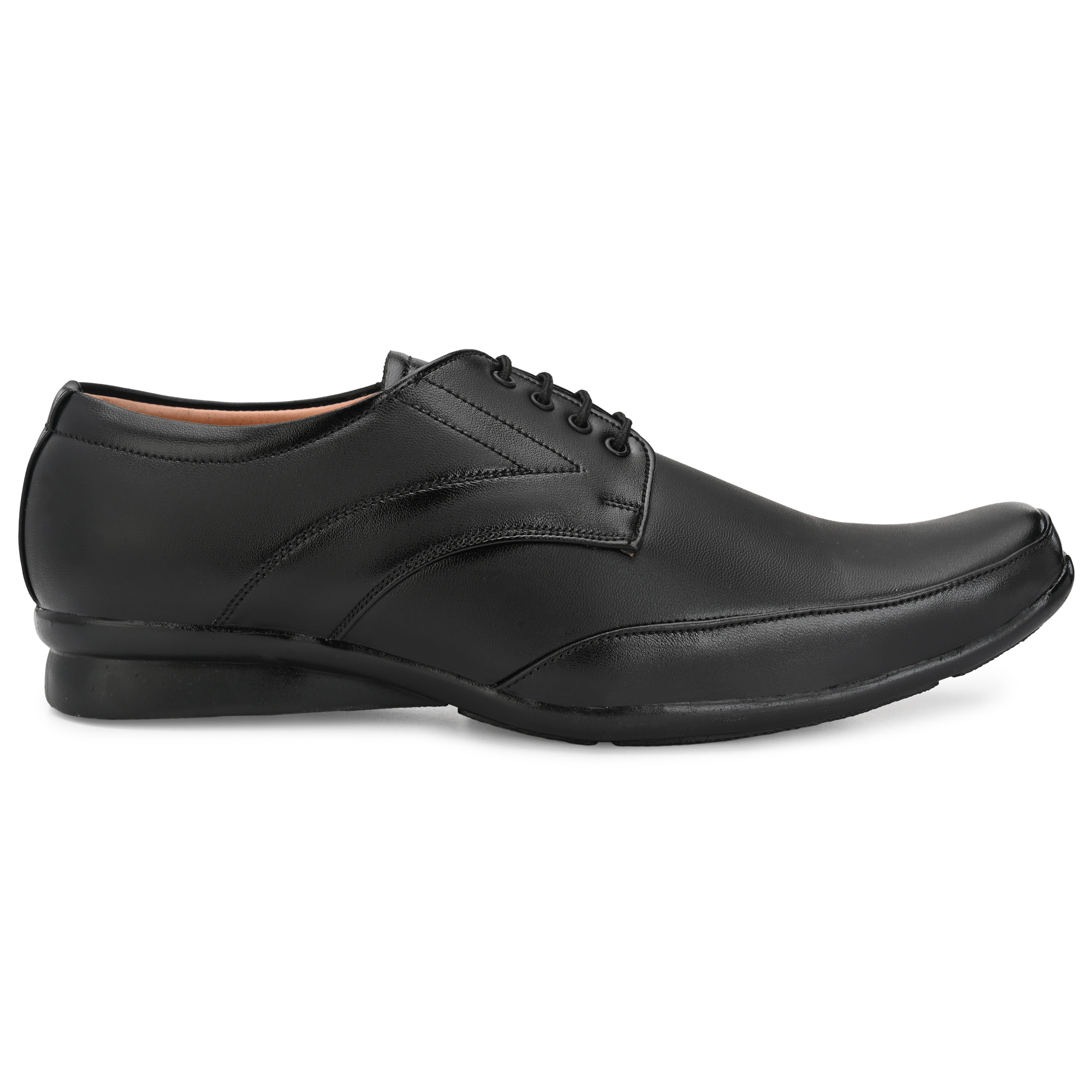 Dazzer 432 Lace Up Synthetic Formal Shoes For Men 432Black. (Black, 6-10, 8 PAIR)