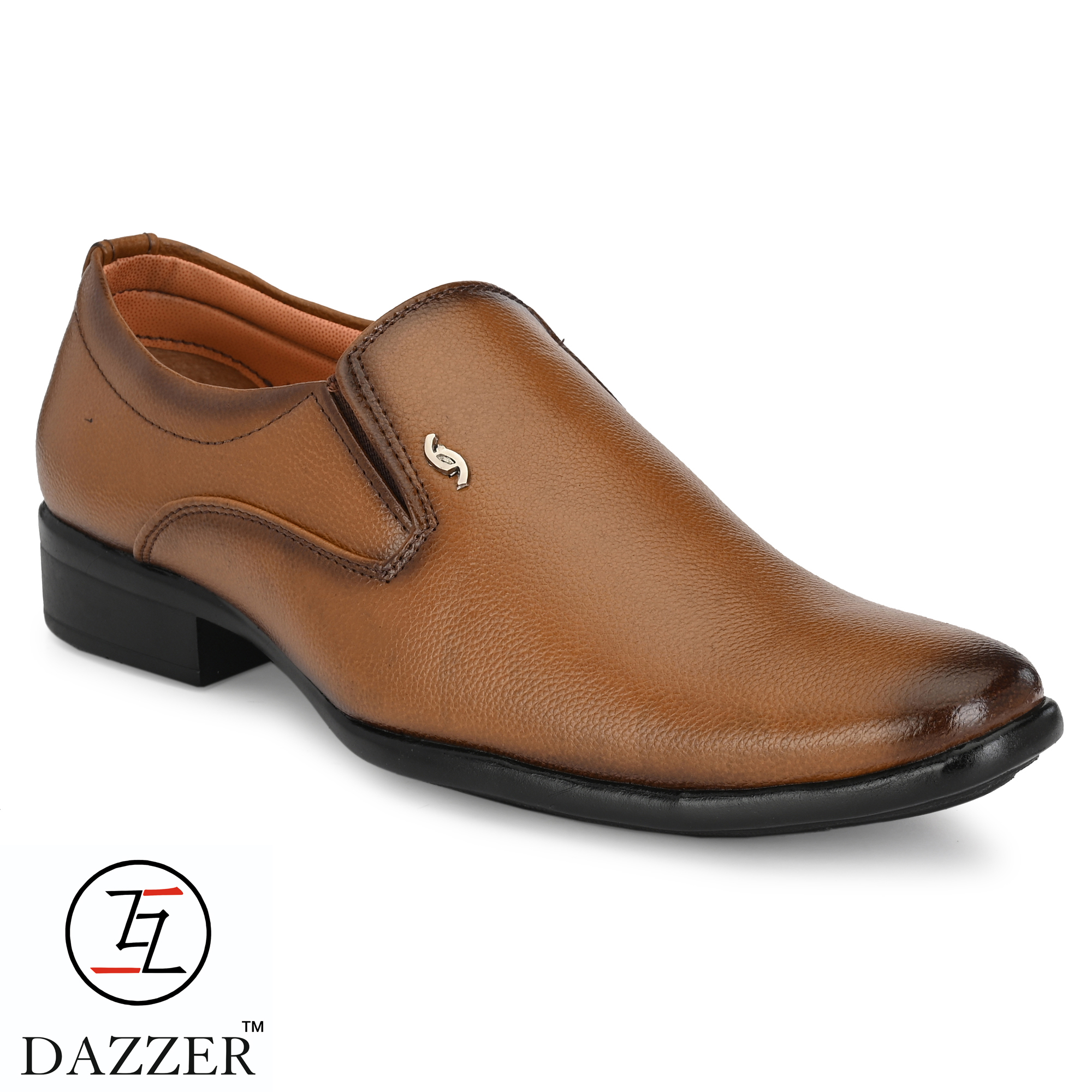 Dazzer 629 Slip On Synthetic Formal Shoes For Men 629Tan. (Tan, 6-10, 8 PAIR)