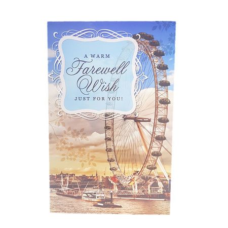 A Warm Farewell Wishes Just For You ! GREETING CARD [FWL 00201]