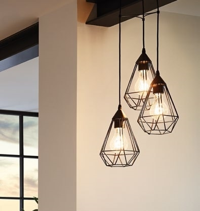Eglo 94191 Tarbes Pendant Black Set Of 3