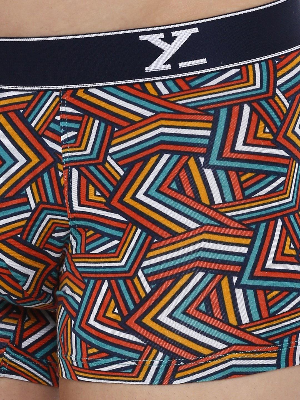 XYXX Men's Stripes Trunk (M,Yellow Multi)