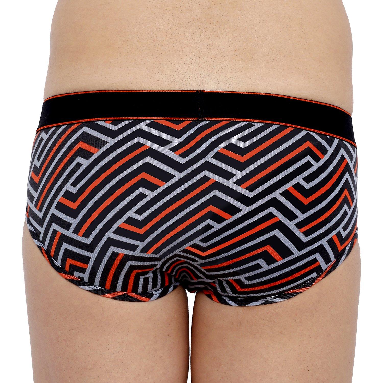 XYXX Men's Stripes Brief (L,Red & Black)