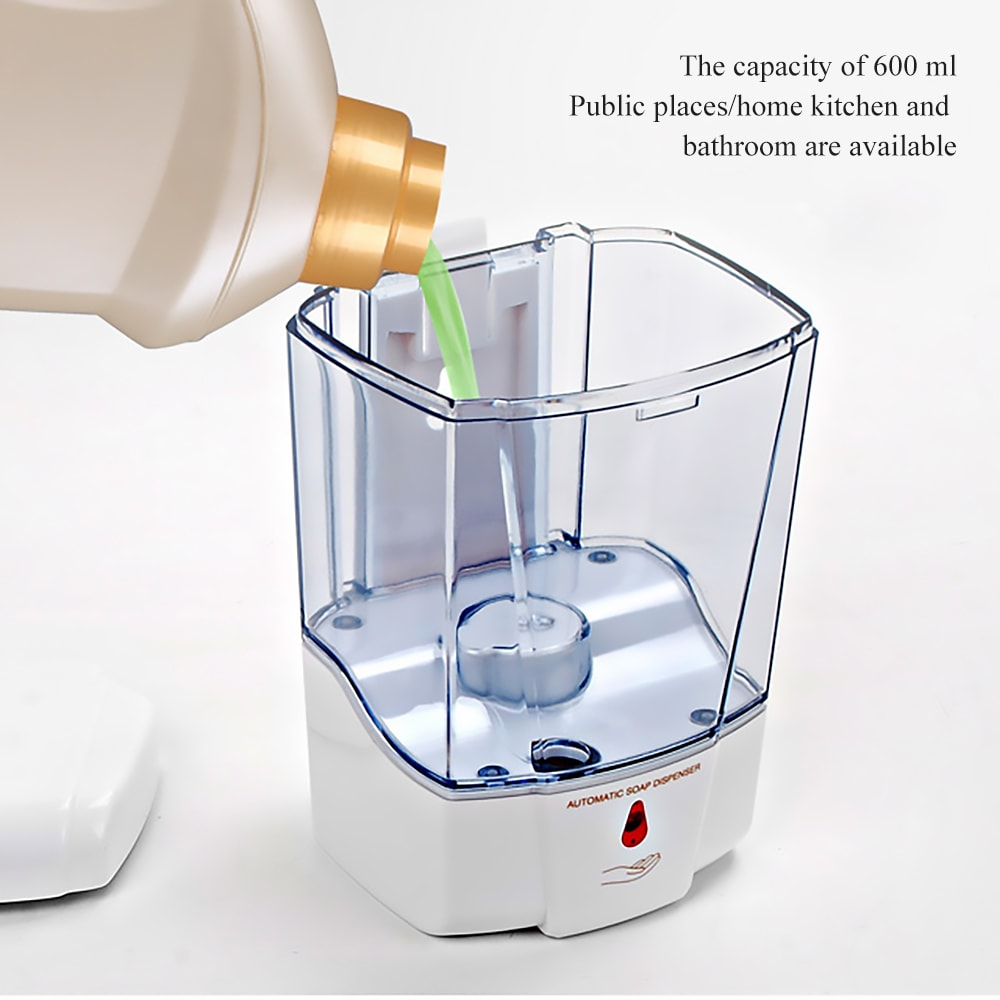 SYGNIFIC Touchless Automatic Soap Dispenser With Infrared Motion Sensor Liquid Dish Hands Free Soap Dispenser For Bathroom & Kitchen