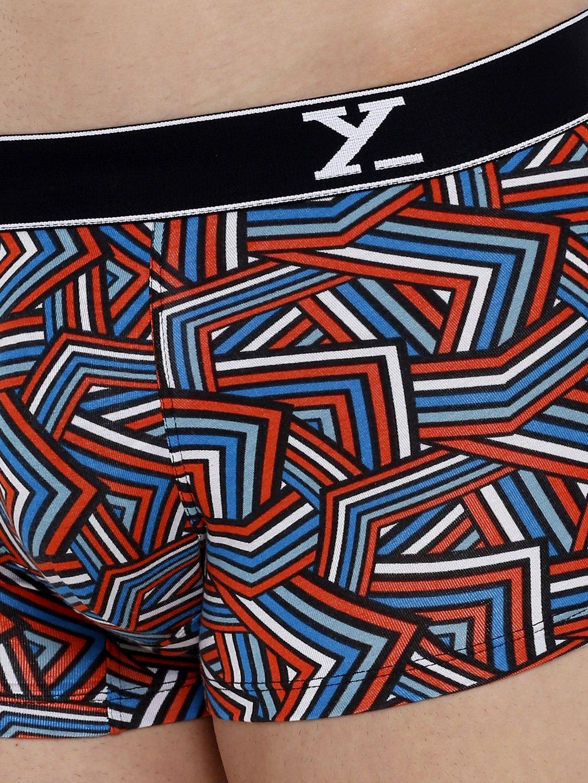 XYXX Men's Stripes Trunk (XL,Red & White)