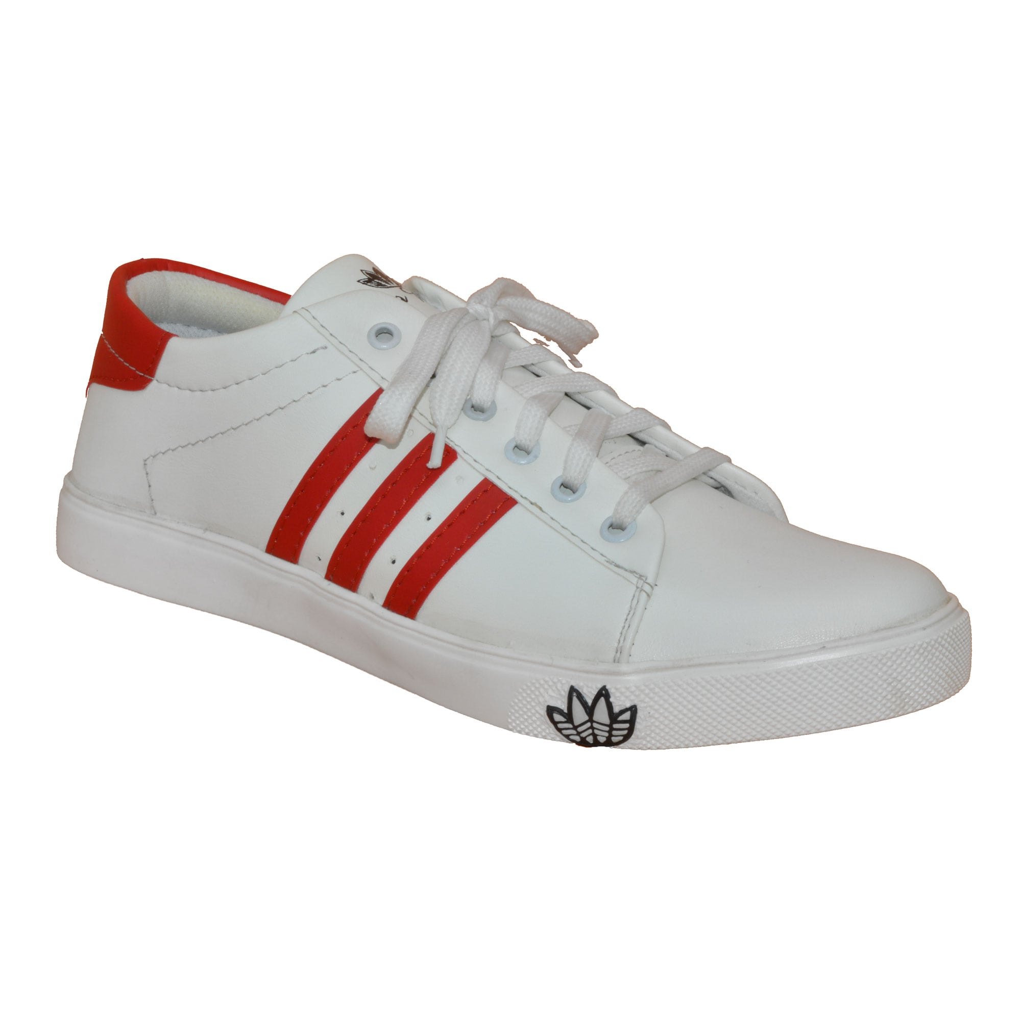 IMCOLUS114.51_RED MENS PARTYWEAR & WHITE FOAM STYLESH CANVAS SHOES IMCOLUS114.51_RED (RED,6-10,8 PAIR)