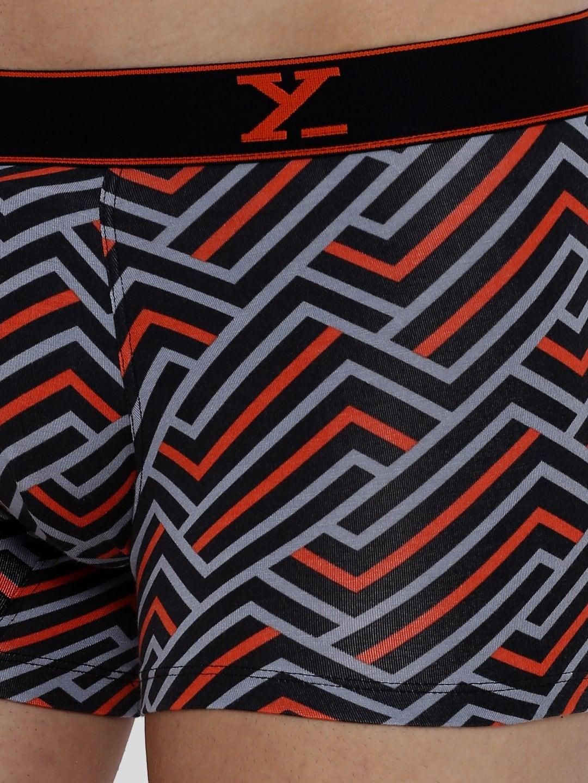 XYXX Men's Stripes Trunk (M,Red & Black)