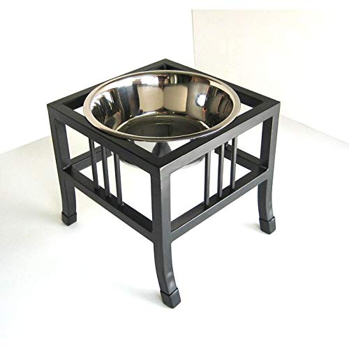 Pets Empire Pet Diner Elevated 1-Bowl Raised Dog Food Stainless Steel Food Bowl Water Bowls With Iron Stand For Dog Cat,Pack Of 1 (Medium ( 450 ML ))