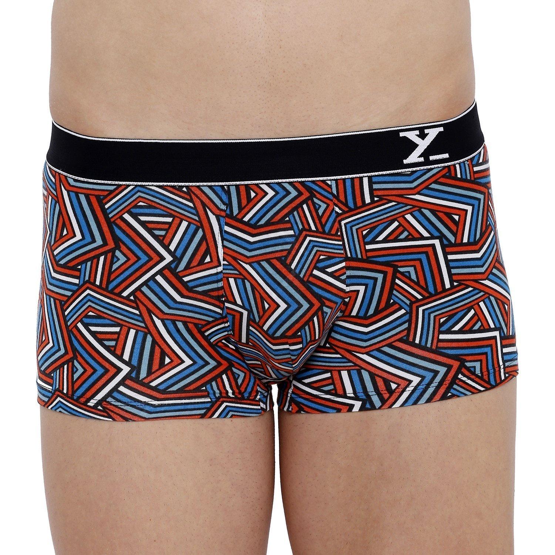 XYXX Men's Stripes Trunk (M,Red & White)