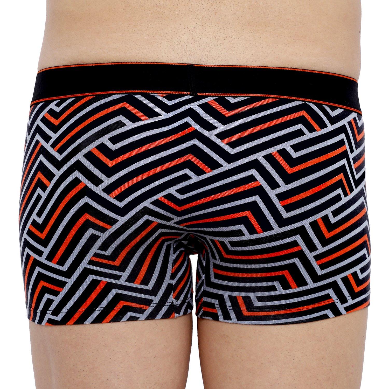 XYXX Men's Stripes Trunk (XL,Red & Black)