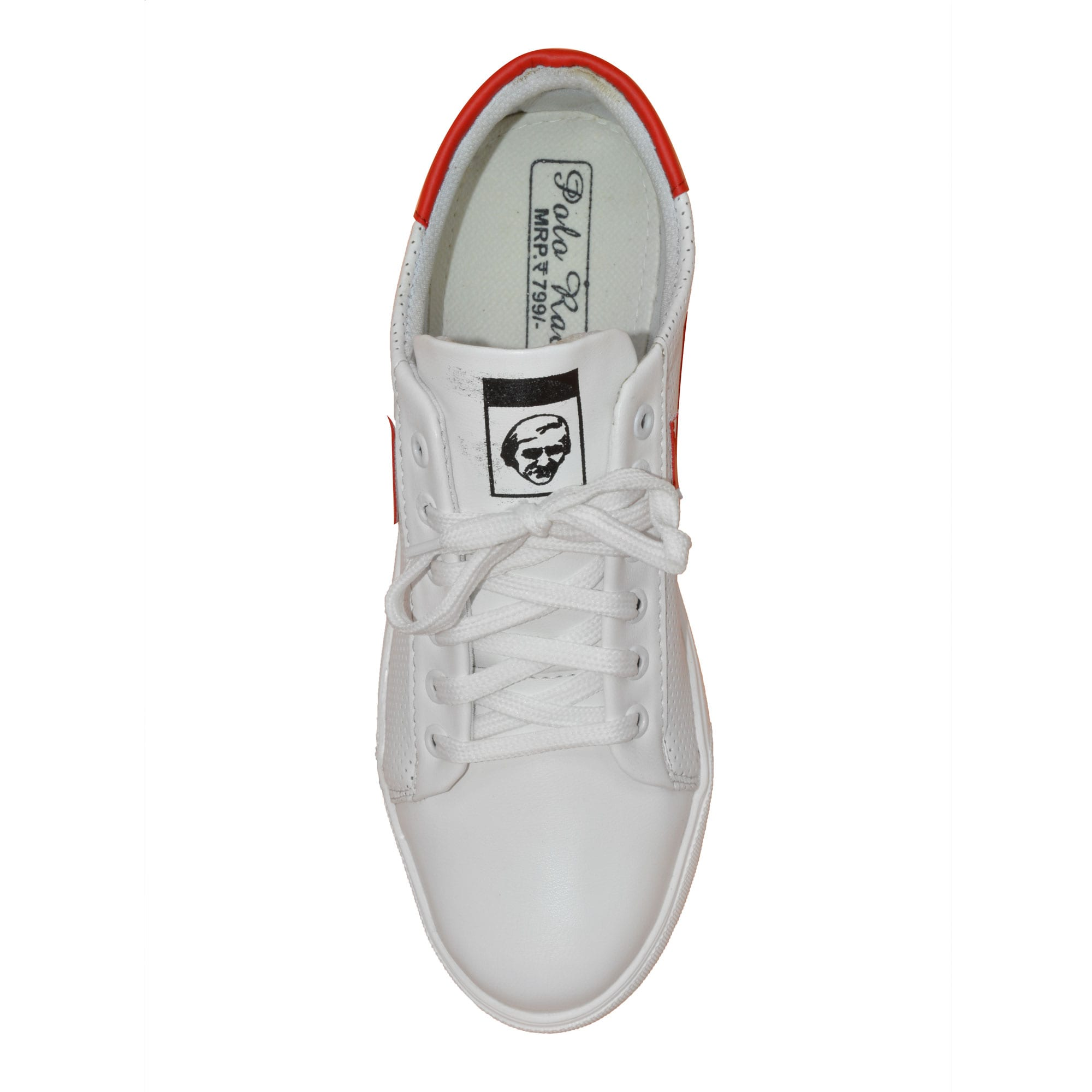 IMCOLUS110.51_RED MENS PARTYWEAR & WHITE FOAM STYLESH CANVAS SHOES IMCOLUS110.51_RED (RED,6-10,8 PAIR)
