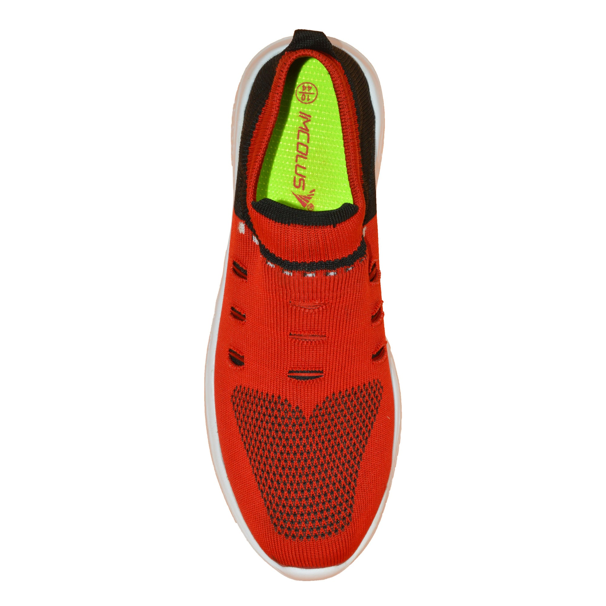 IMCOLUS118.86_RED MENS COMFORTABLE & OUTDOOR SOCKS CANVAS SHOES IMCOLUS118.86_RED (RED,6-10,8 PAIR)