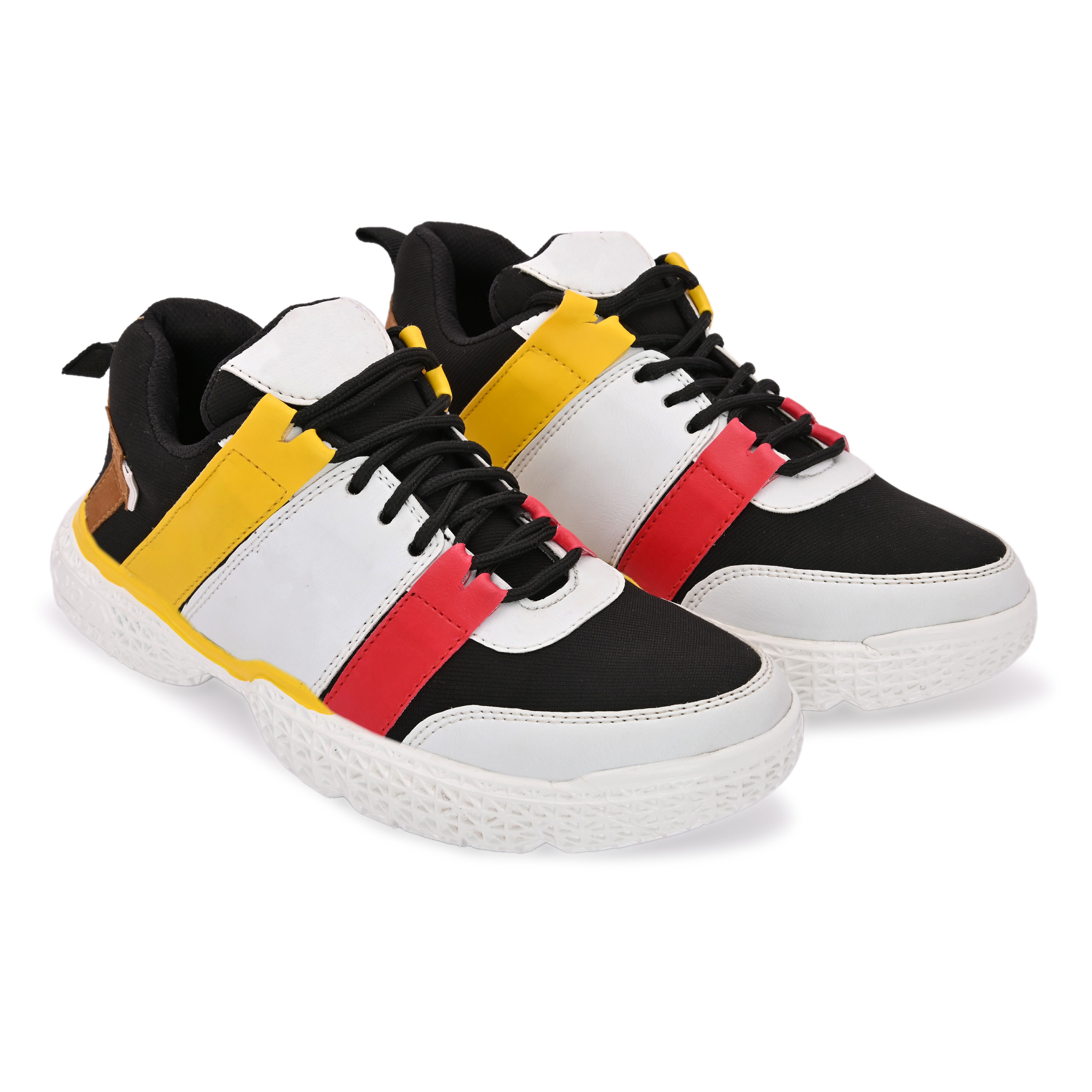 BRIFAR COMFORTABLE & TRENDY SPORTS SHOES ARE RELIABLE FOR ANY BFS0814YL (6-9, YELLOW, 4 PAIR)