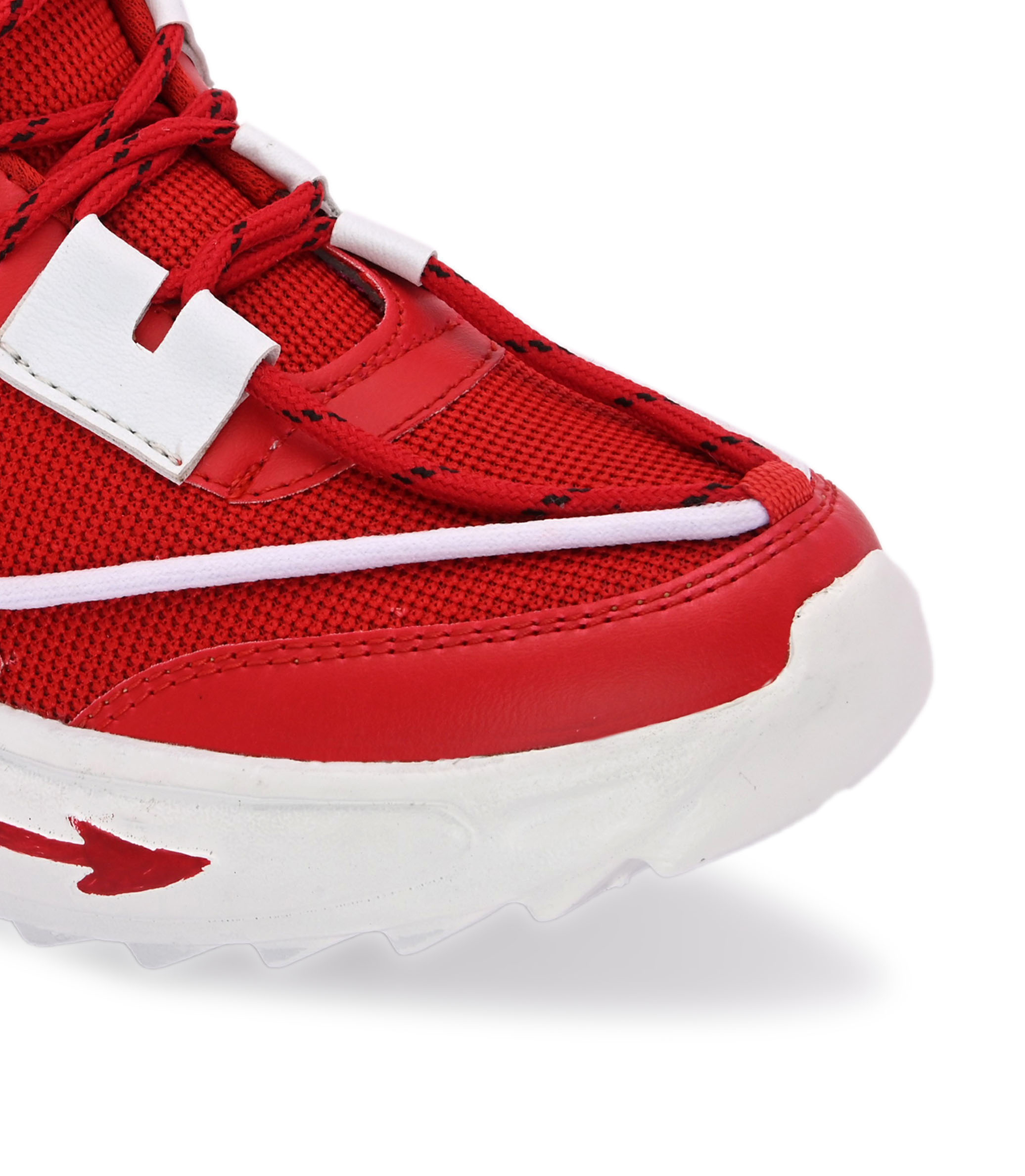 BRIFAR COMFORTABLE & TRENDY SPORTS SHOES ARE RELIABLE FOR ANY BFS0815RD1 (7-10, RED, 4 PAIR)