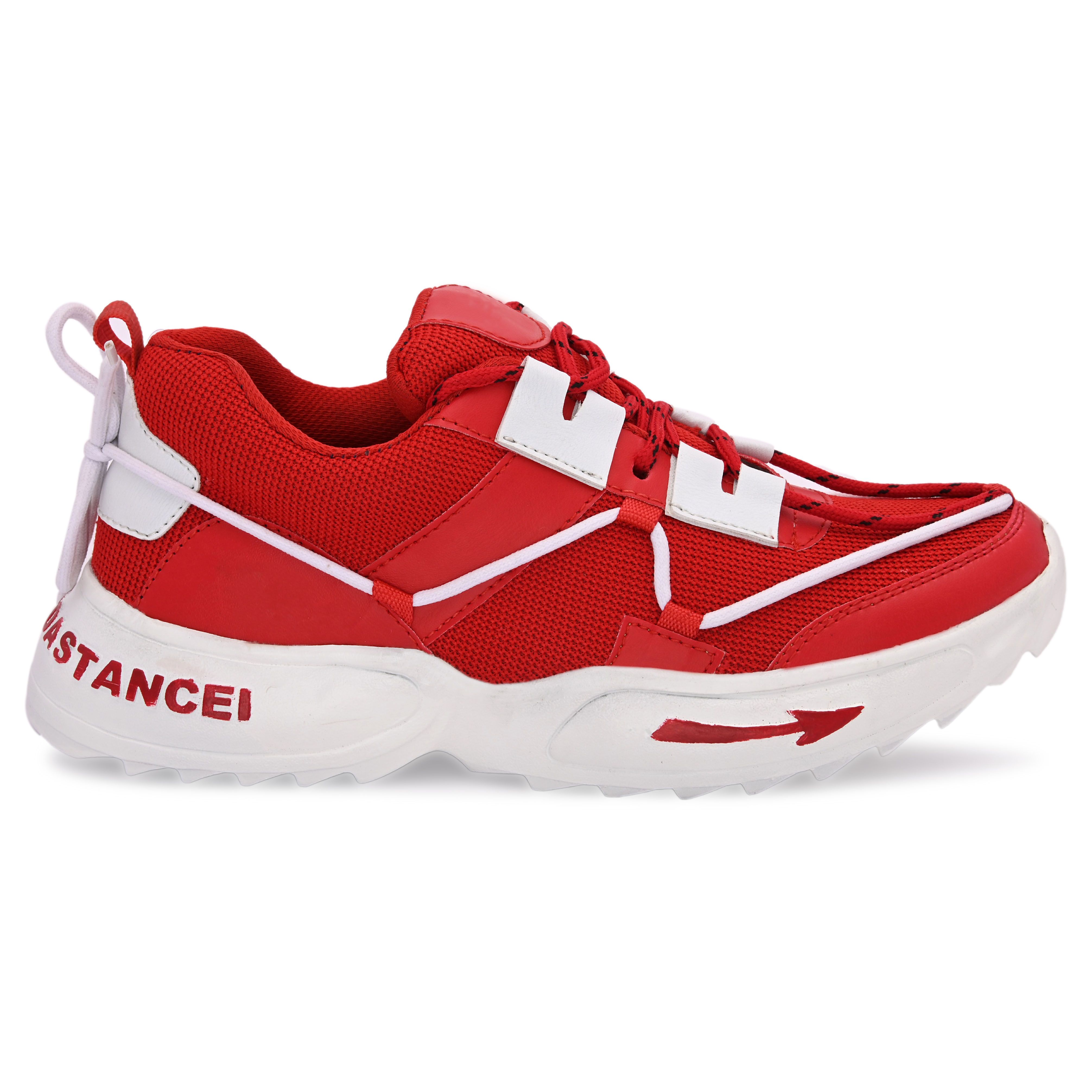 BRIFAR COMFORTABLE & TRENDY SPORTS SHOES ARE RELIABLE FOR ANY BFS0815RD (6-9, RED, 4 PAIR)