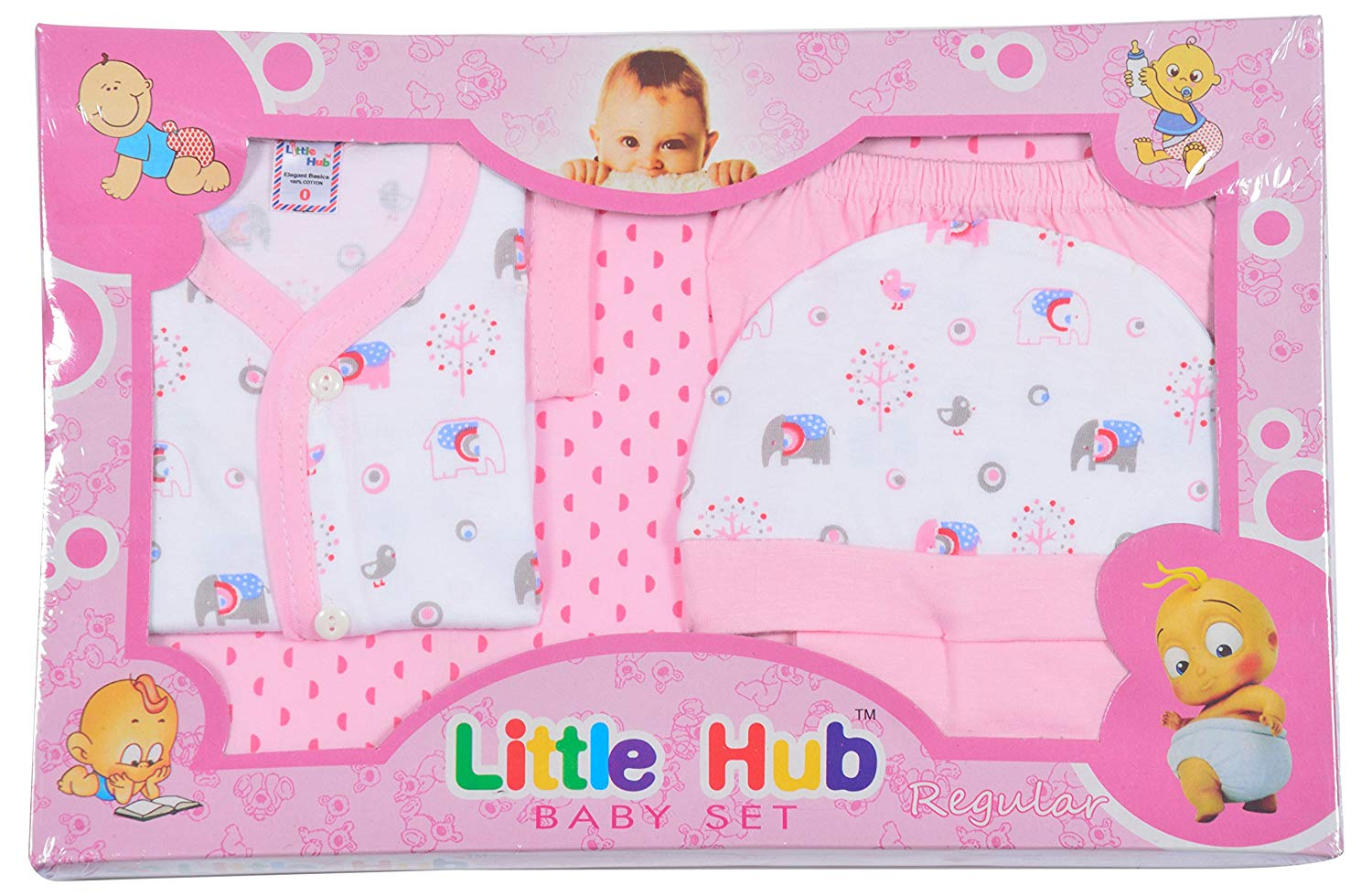 Little Hub New Born Baby Gift Box For UNISEX(0-Size)6 PCS Box Packing (121)