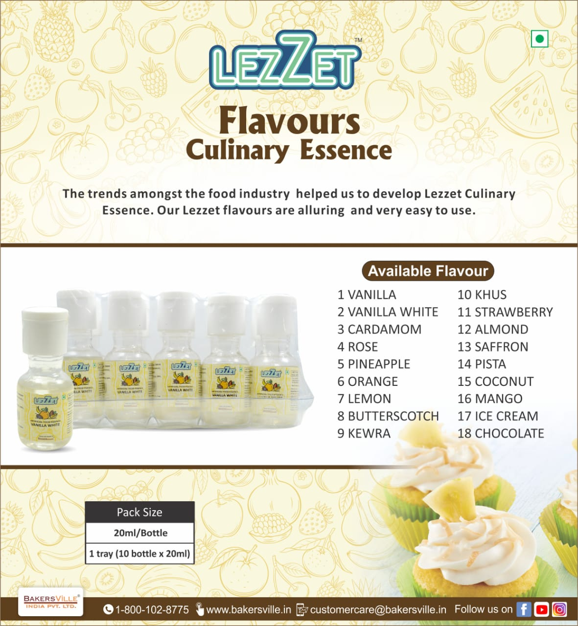 17% Off Lezzet Artificial Food Essence Kewara 20 Ml Cake Ingredients - Divena In