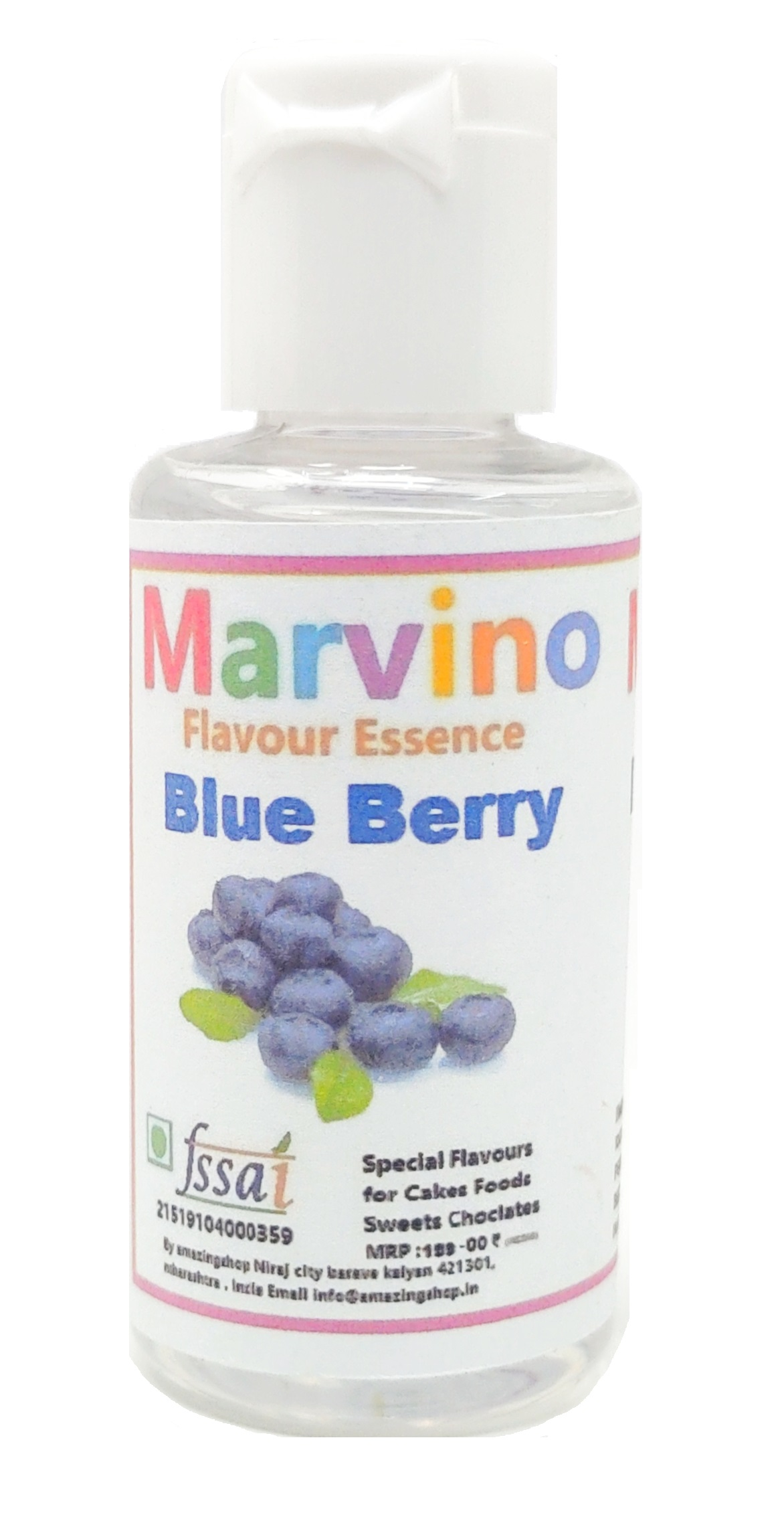 Marvino BlueBerry Flavour Essence Extracts For Cakes Whip-Creams Sweets Choclates And Icecreams