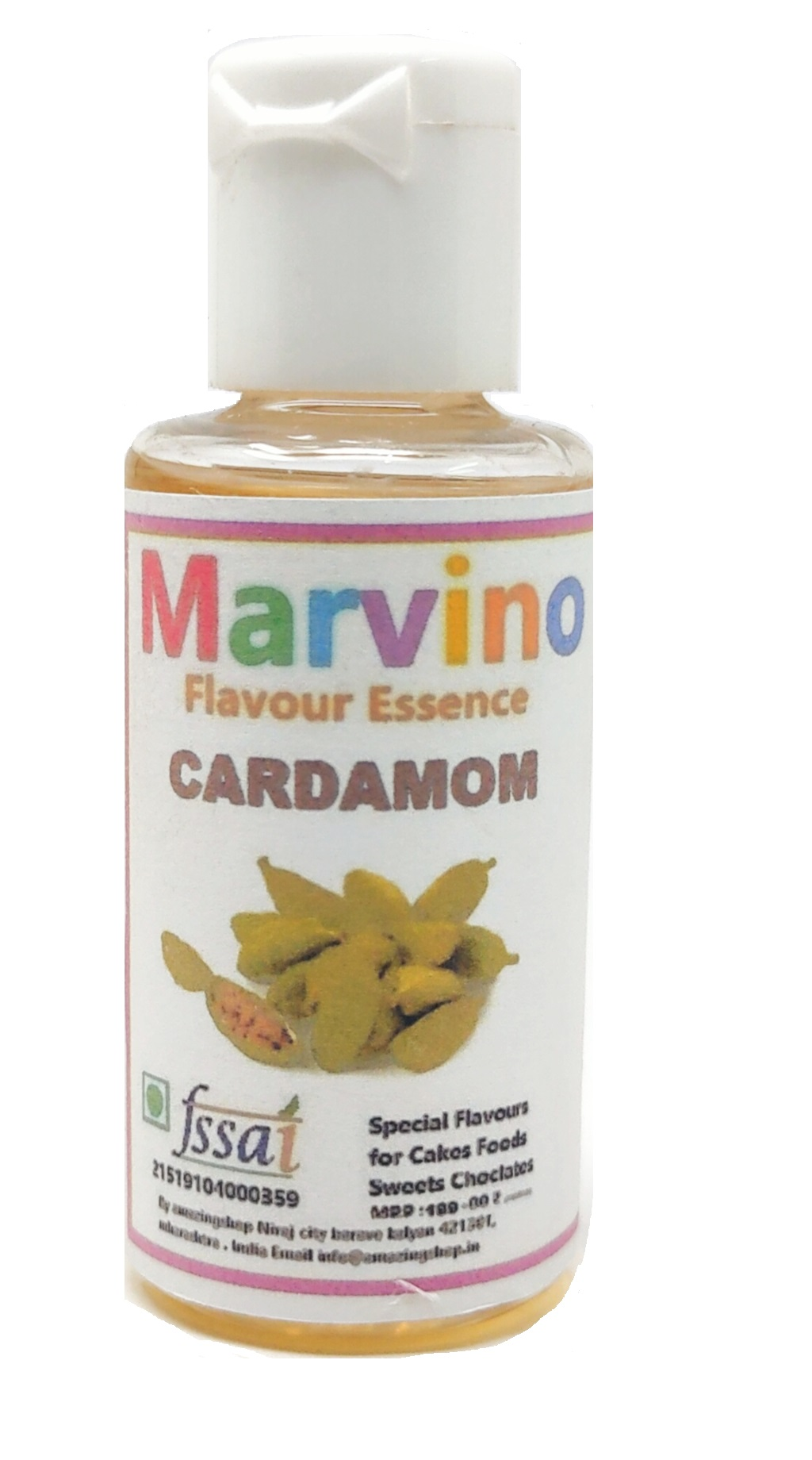 Marvino Cardamom Flavour Essence Extracts For Cakes Whip-Creams Sweets Choclates And Icecreams