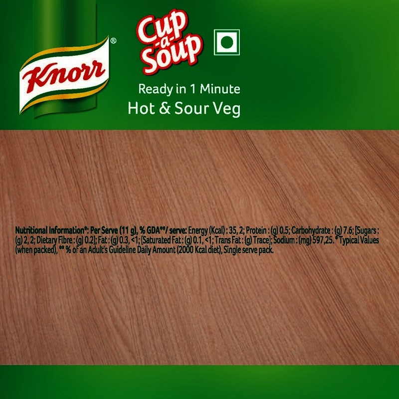 Knorr Instant Hot N Sour Cup Soup 11 G