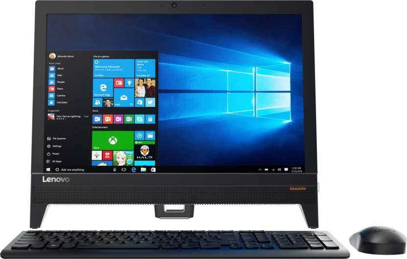 Lenovo - (Pentium Quad Core/4 GB DDR3/1 TB/Windows 10 Home) (Black, 376 Mm X 461 Mm X 37 Mm, 3.09 Kg, 19.5 Inch Screen)