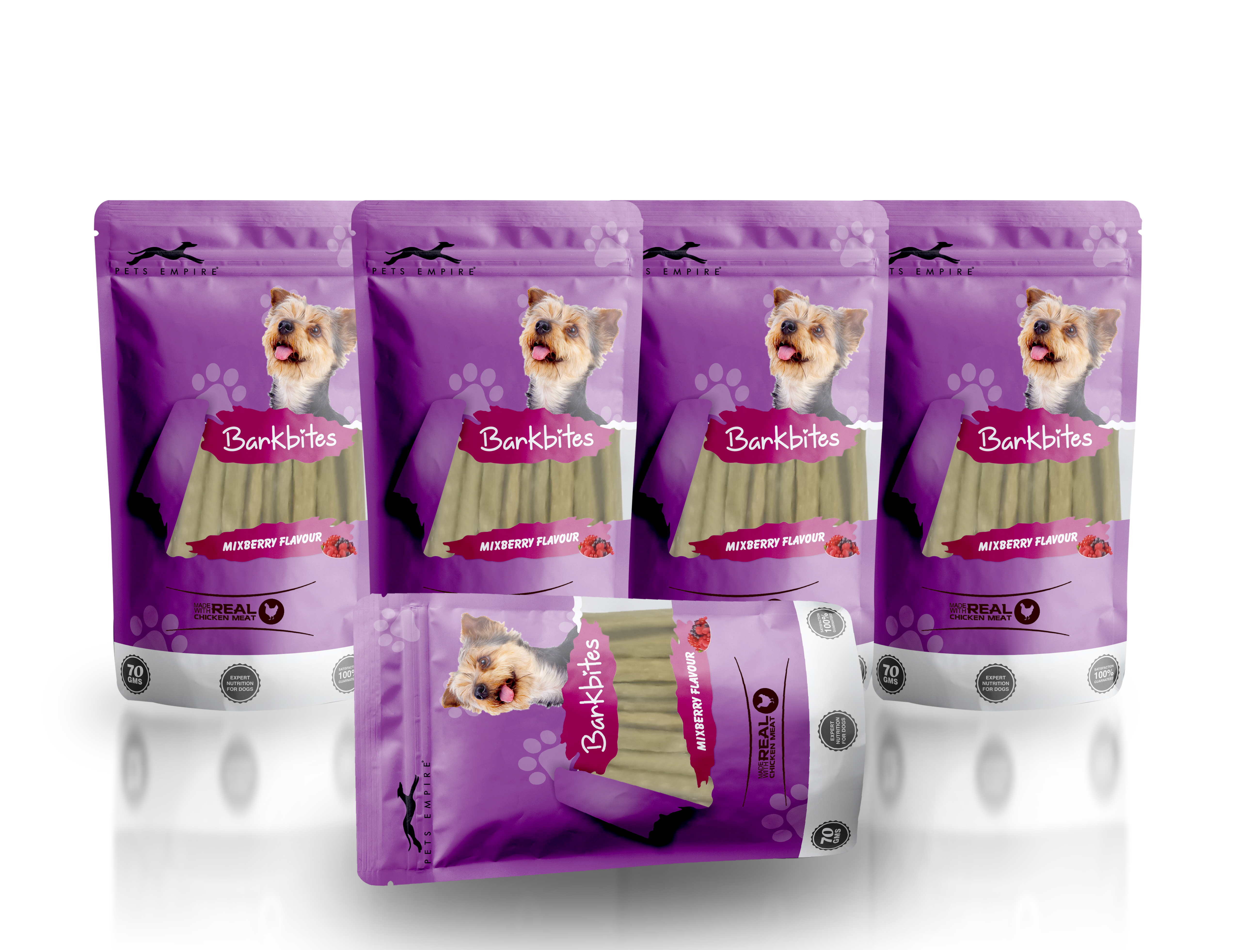 Pets Empire Barkbites Dog Treats 70 GMS (PACK OF 5, CARROT FLAVOUR)