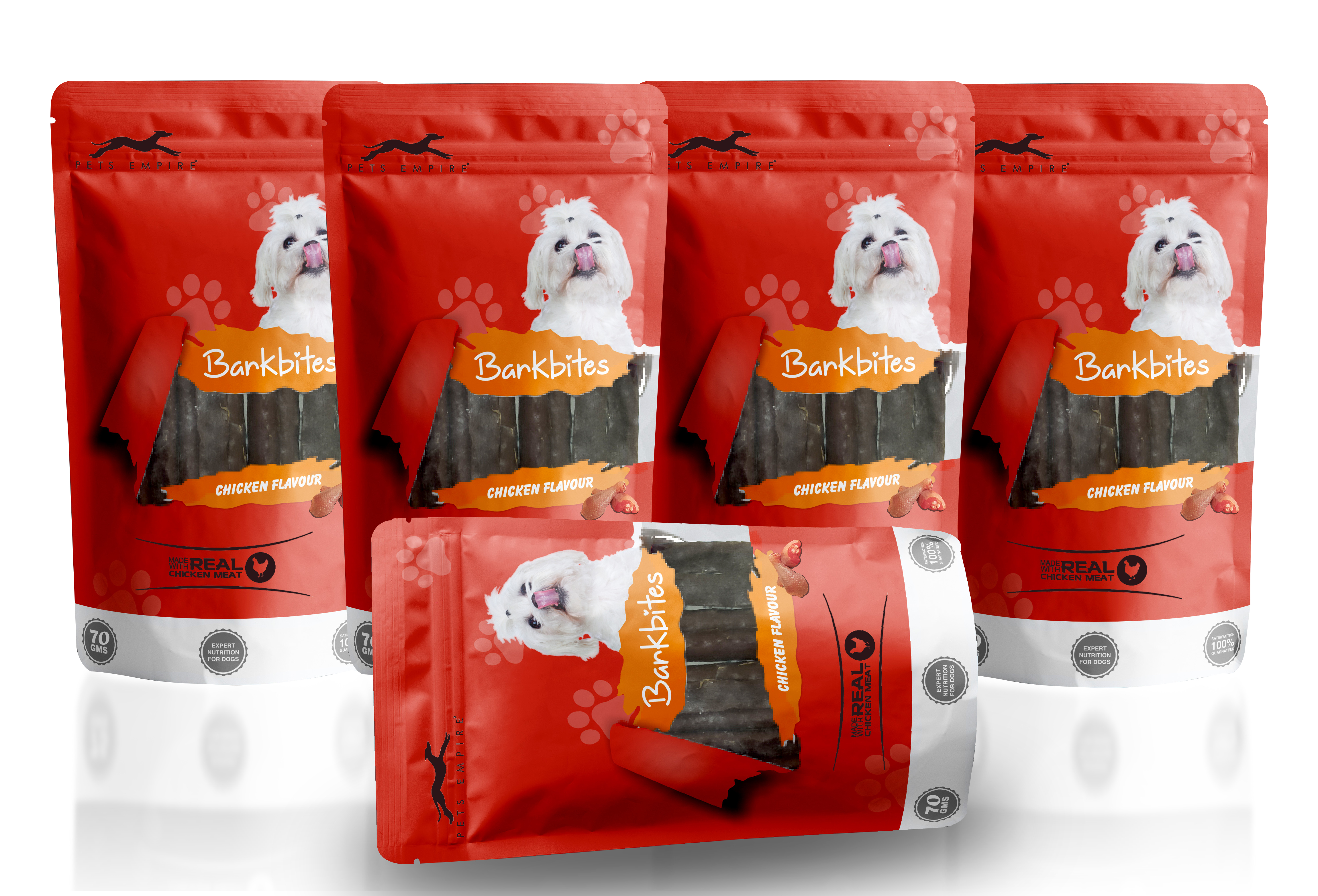 Pets Empire Barkbites Dog Treats 70 GMS (PACK OF 5, CHICKEN FLAVOUR)