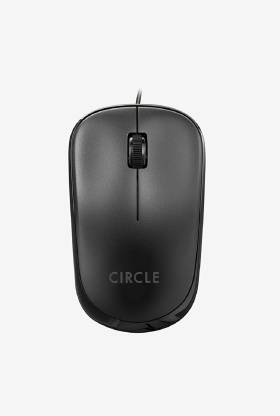 Circle CM 321 Wired Optical Mouse (USB 3.0, USB 2.0, Black)