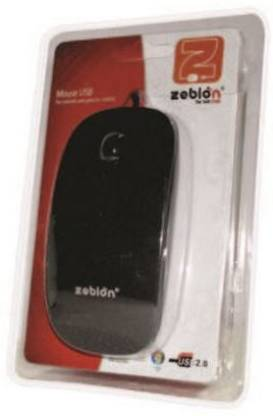 Zebion Glider Wireless Mouse Wireless Mechanical Gaming Mouse (USB, Black)