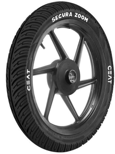 CEAT SECURA ZOOM F Two Wheeler Tubeless Tyre [80/100 R18 47P]