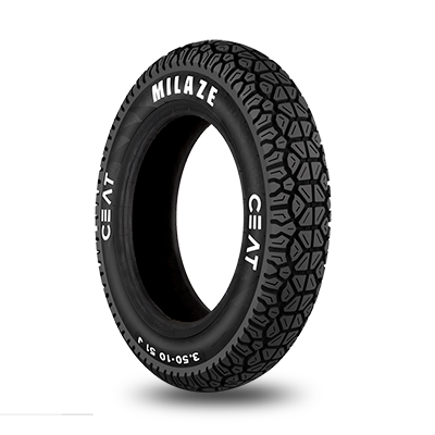 CEAT Milaze (Scooter) Two Wheeler Tubeless Tyre [3.50/R10 51J]